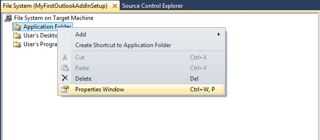 how to add appdata folder in visual studio