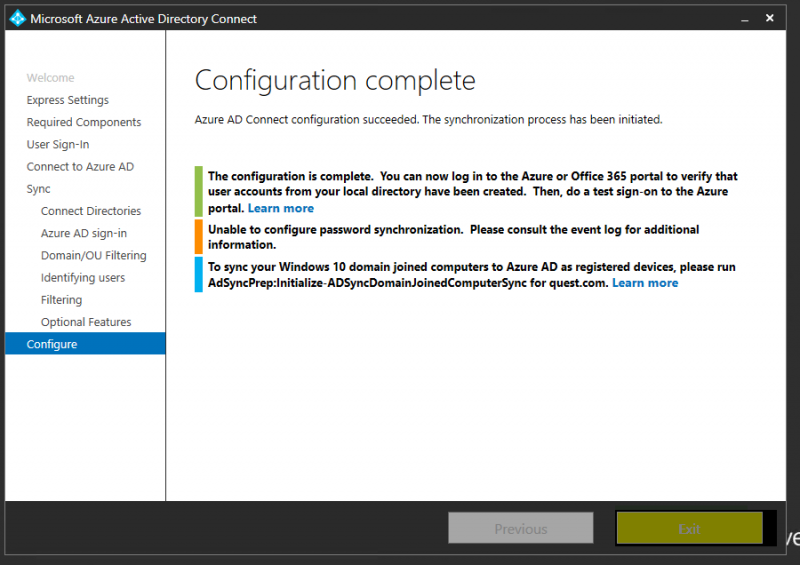 How to Sync On-premise AD with Windows Azure AD using Azure AD