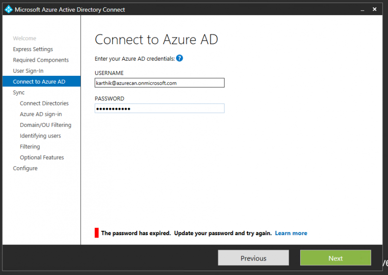 How to Sync On-premise AD with Windows Azure AD using Azure