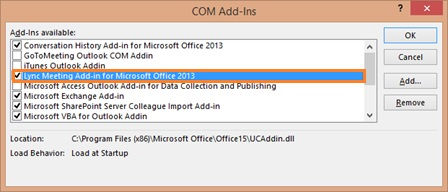how to enable inactive add ins in outlook 2013