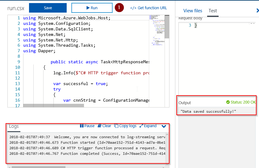 Azure Function : A quick start with database - Blogs