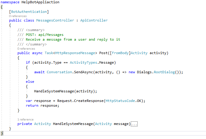 Create a Basic Bot with the Bot Builder SDK for NET - Blogs