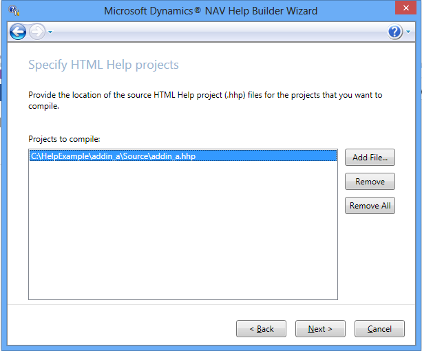 Microsoft Dynamics NAV Help build wizard