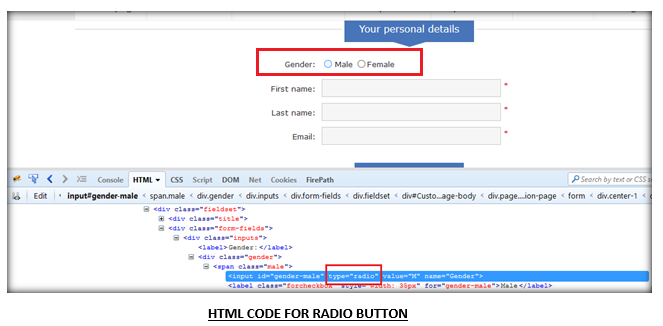 Handling Radio buttons and Checkboxes using Selenium Webdriver - Blogs