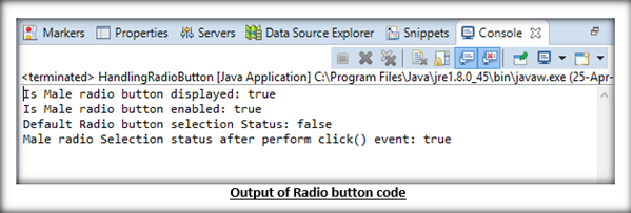 Handling Radio buttons and Checkboxes using Selenium