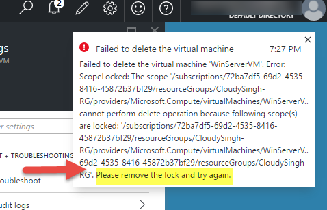 Failed to Delete the VM